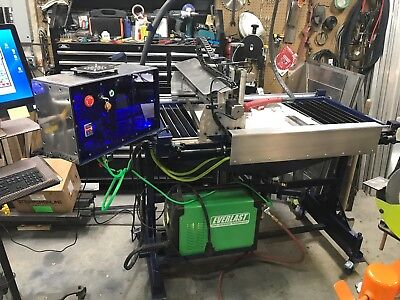 "Compact Plasma CNC Torch -  Hand built with THC 20"" by 40"" working table size"