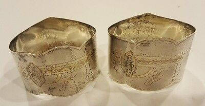 Russian Antique Silver Napkin rings
