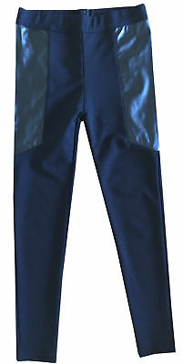 Worn Once Essential Witchery Size 12 Girl's Black Faux Leather Ponte Pants