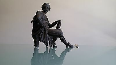 SPELTER SHAKESPEARE FIGURE (C1890). GREAT DETAIL. 2.8kg. SOME DAMAGE SHOWN.