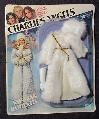 1977 Hasbro CHARLIE'S ANGELS Russian Roulette MOC C-7.5 Doll Clothes Unpunched