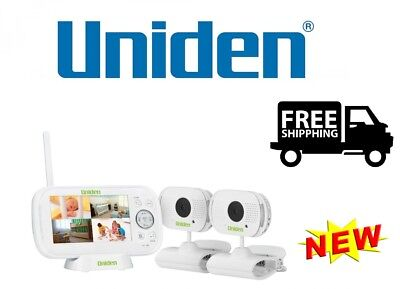 "Uniden Bw3102 4.3"" Digital Wireless Baby Video Monitor Zoom & Pan Smartphone App"