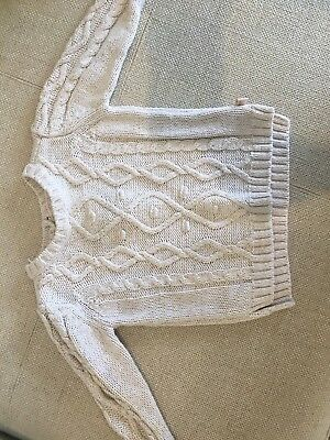 Target Cable Knit Jumper Size 0 6-12months
