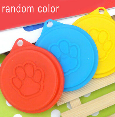 1X Pet Food Can Cover Lid Dog Cat Pets Tin Plastic Reusable Covers Cap New Style