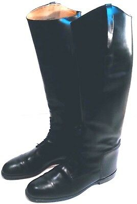 Field Boots Riding Equestrian Leather Mens Tall Size 12 Black Made In England