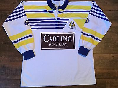 1990 1991 Leeds Rhinos Rugby League Away Shirt Adults Large