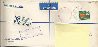 Rhodesia 1968 Post Paid Accepted By Uk Post, After Udi-With Nominal 2D Stamp