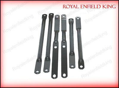 Genuine Front Mudguard Stay Kit Black Royal Enfield Bullet 350 #597097