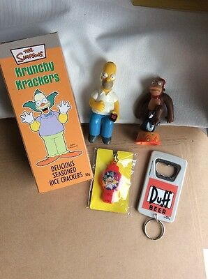 Bulk Simpsons collectables, bottle opener, key ring figures