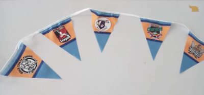 Goldcoast titans seagulls chargers giants   bunting  rugby league flag  nrl