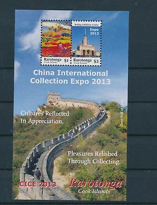 LH23445 Cook Islands Rarotonga China international expo 2013 lot MNH