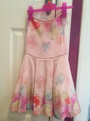 ted baker peach girls dress age 6