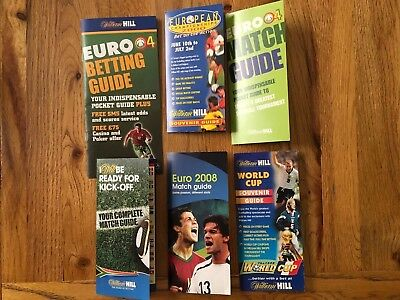 William Hill Football Match Guides Euros 2000/2004/2008 World Cup 1998/2010