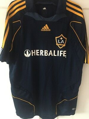 L A Galaxy Shirt Size Medium Beckham 23 Good Condition.