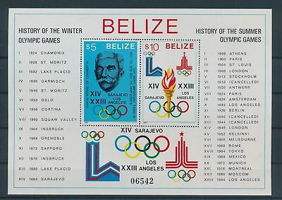 LH23698 Belize history of the olympic games good sheet MNH