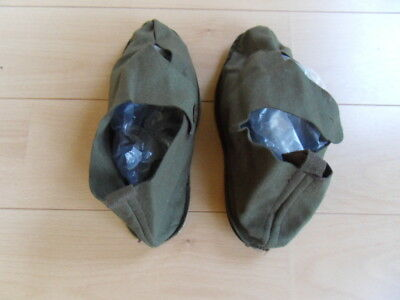 Australian Army WWII jungle green felt overshoes large size 1945