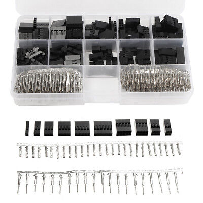 For Arduino Wire Jumper Pin Header Connectors 2.54mm Housing Female Kit 610Pcs