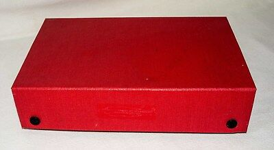 35mm Slide Storage Box, Red, for 100 Slides, Used but good condition