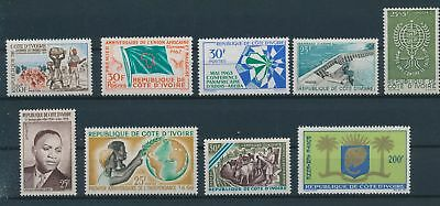 LH23821 Ivory Coast nice lot of good stamps MNH