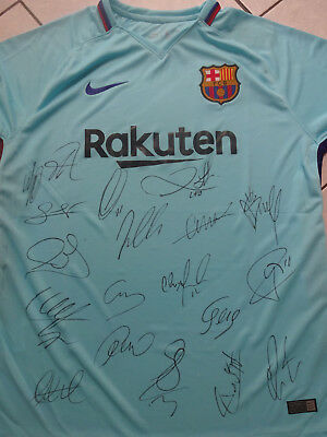 Barcelona signed  soccer jersey 2017-18 signed football shirt with coa. messi