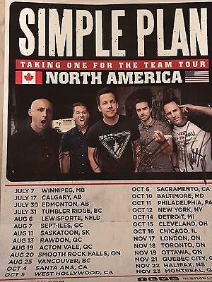 Simple Plan Signed Poster