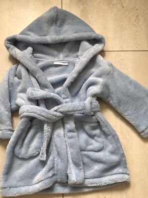 The Little White Company Dressing Gown Blue Age 12-18 Months