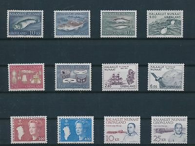 LH23996 Greenland nice lot of good stamps MNH