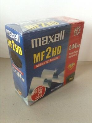 """Maxell 3.5"""" Floppy Diskettes 10-pack 1.44 MB PC & Mac Windows DOS Super RD Ultra"""