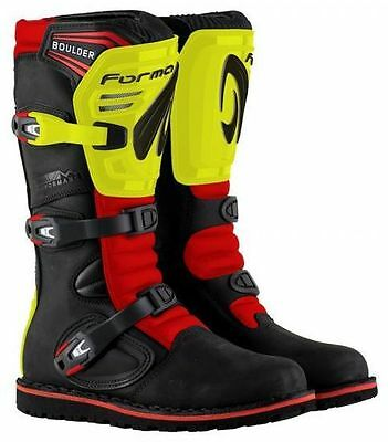 New 2017 Limited Edition Forma Boulder Trials Boots - Black / Red / Flou