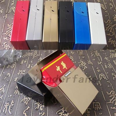 Aluminum Metal Cigar Cigarette Box Holder Tobacco Storage Case Gift
