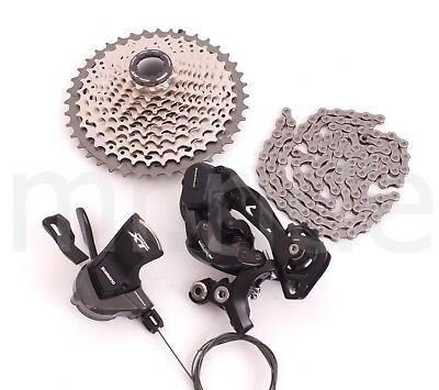 2017 Shimano XT M8000 Group set 4pcs 11spd Cassette,Derailleur,Shifter 11-40T