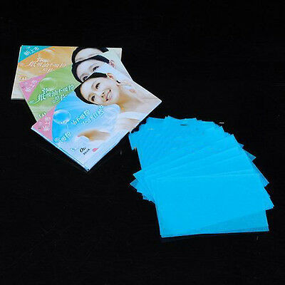 100 Sheets Oil Control Absorption Blotting Facial Paper/TISSUE Skin Care hcuk