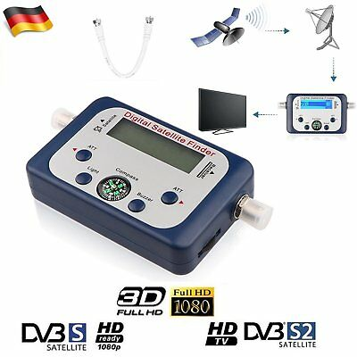 SAT Finder Digital Analog Satfinder HDTV Satelliten Finder + F-Kabel SAT Signal
