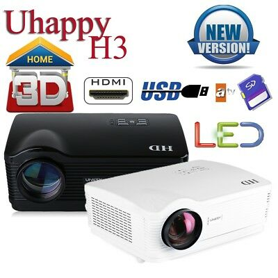 New 3D LED Proyector 5000lm Home Cinema Projector para TV/DVD/ Xbox/PS4/ipad/PC