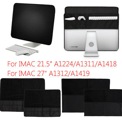 PU Leather Protective Screen Dustproof Sleeve Cover for Apple IMAC 21.5''/27''