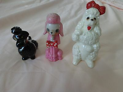 3 Vintage Different Size Poodles