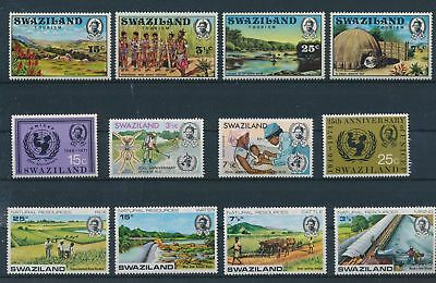 LH24312 Swaziland nice lot of good stamps MNH