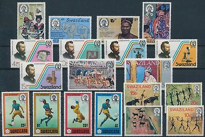 LH24314 Swaziland nice lot of good stamps MNH