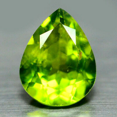 3.82 Ct Natural! Green Pakistan Peridot Pear