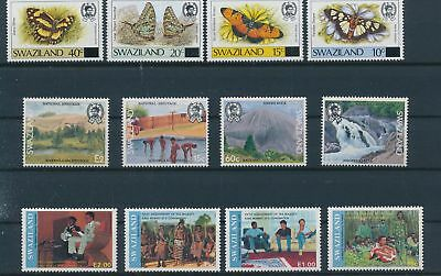 LH24322 Swaziland nice lot of good stamps MNH