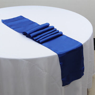 "12"" x 108"" Satin Fashion Table Runner Wedding Party Home Hotel Table Decor"