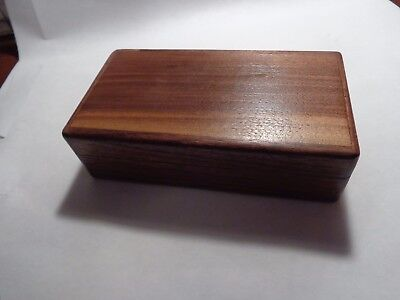 Wooden Box Trinket Storage Keepsake Walnut and Cherry Wood Handmade in USA