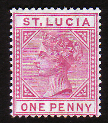 ST LUCIA. SG 32, 1d CARMINE. DIE I. MOUNTED MINT.