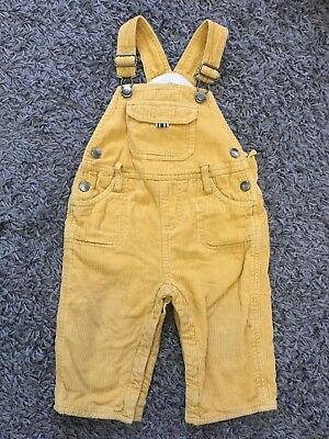 Baby Boden Yellow Dungarees Unisex, Boy/Girl 12-18m
