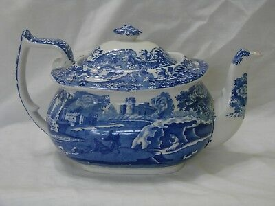 Copland Spode's Itallian Blue and White Teapot