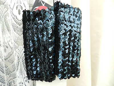 Ladies/Womans/Girls Blue Fully Sequined Armbands Bellydancer/Christmas BNWT