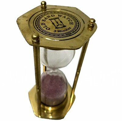 Nautical Sand Vintage Brass Sand Timer Hourglass Home Décor Sand Clock ST 020