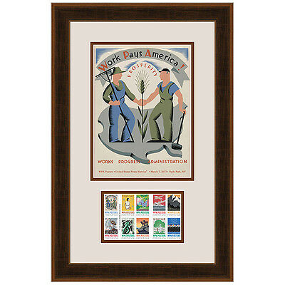 USPS New WPA Posters Framed Art