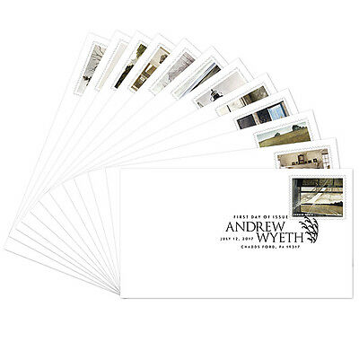 USPS New Andrew Wyeth First Day Cover  set of 12