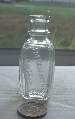 Nice Fancy Victorian Perfume Embossed, Potter & Moore Mitcham